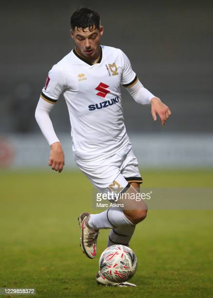 Stephen Walker of MK Dons during the Emirates FA Cup Second Round match between Barnet FC and Milton Keynes Dons at The Hive London on November 29,...