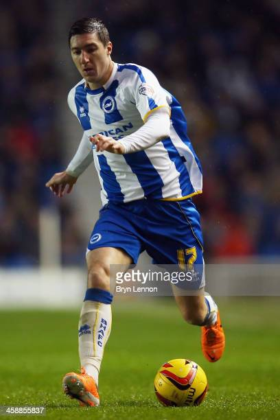 Stephen Ward of Brighton Hove Albion in action during the Sky Bet Championship match between Brighton Hove Albion and Huddersfield Town at Amex...