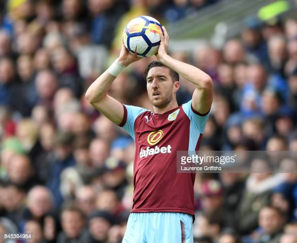 Stephen Ward of Burley in action during the Premier League match between Burnley and Crystal Palace at Turf Moor on September 10 2017 in Burnley...