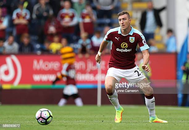 Stephen Ward of Burnley during the Premier League match between Burnley and Cardiff City at Turf Moor on August 13 2016 in Burnley England