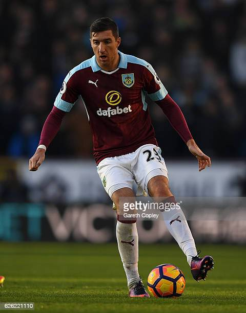 Stephen Ward of Burnley during the Premier League match between Burnley and Manchester City at Turf Moor on November 26 2016 in Burnley England