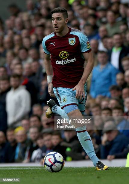 Stephen Ward of Burnley during the Premier League match between Burnley and Huddersfield Town at Turf Moor on September 23 2017 in Burnley England