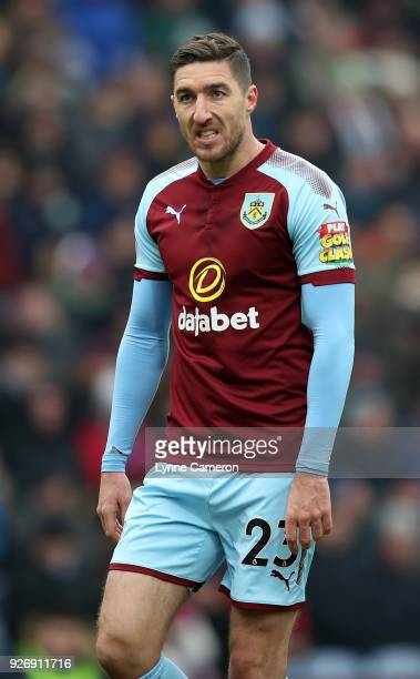 Stephen Ward of Burnley during the Premier League match between Burnley and Everton at Turf Moor on March 3 2018 in Burnley England