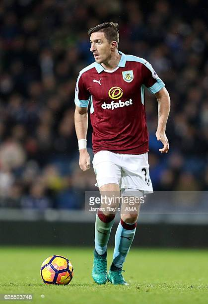 Stephen Ward of Burnley during the Premier League match between West Bromwich Albion and Burnley at The Hawthorns on November 21 2016 in West...