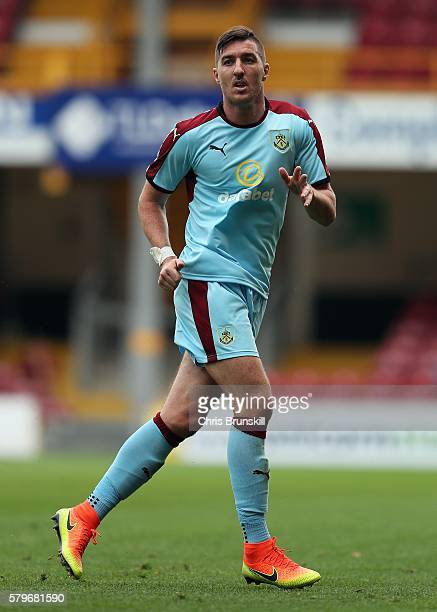 Stephen Ward of Burnley in action during the preseason friendly match between Bradford City and Burnley at Valley Parade on July 23 2016 in Bradford...