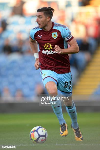 Stephen Ward of Burnley in action during the preseason friendly match between Burnley and Celta Vigo at Turf Moor on August 1 2017 in Burnley England