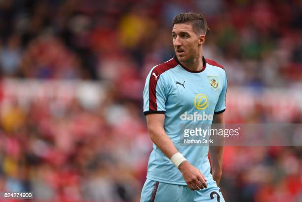 Stephen Ward of Burnley looks on during the pre season friendly match between Nottingham Forest and Burnley at the City Ground on July 29 2017 in...