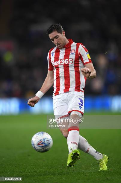 Stephen Ward of Stoke in action during the Sky Bet Championship match between Cardiff City and Stoke City at Cardiff City Stadium on November 26 2019...