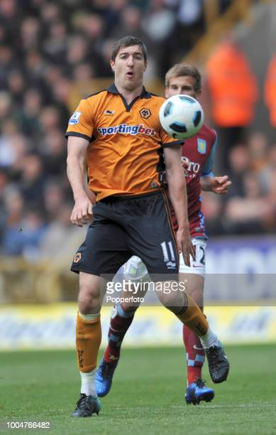 Stephen Ward of Wolverhampton Wanderers in action during the Barclays Premier League match between Wolverhampton Wanderers and Aston Villa at...