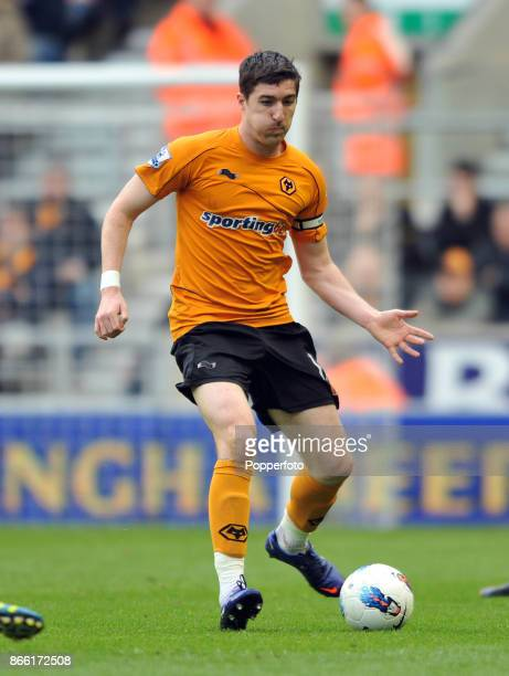 Stephen Ward of Wolverhampton Wanderers in action during the Barclays Premier League match between Wolverhampton Wanderers and Blackburn Rovers at...