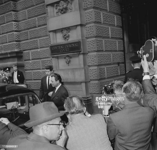 Stephen Ward society osteopath and key figure in the Profumo affair leaving the Old Bailey after the resumption of the case in which he is accused of...