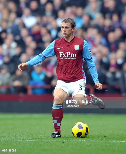 Stephen Warnock of Aston Villa in action during the Barclays Premier League match between Aston Villa and Birmingham City at Villa Park on October 31...