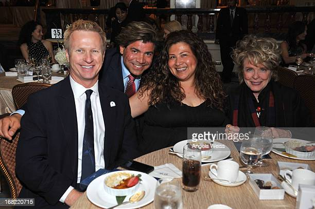Stephen Watson Rudy Pi Allie Padilla and Evans Frankenheimer attend the Midnight Mission Golden Heart Awards 2013 at the Beverly Wilshire Four...