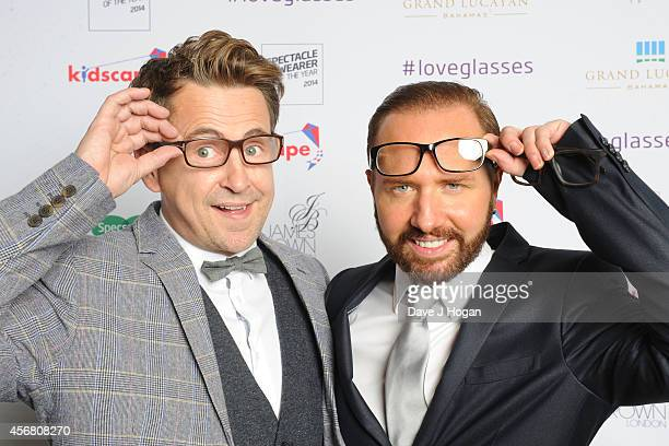 Stephen Webb and Chris Steed attend the Spectacle Wearer Of the year Awards at 8 Northumberland Avenue on October 7 2014 in London England
