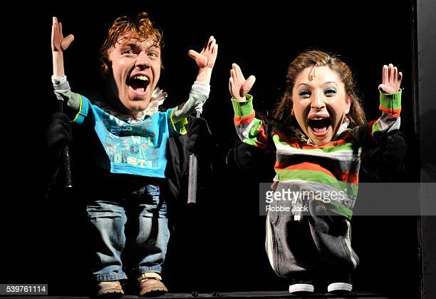 Stephen Webb as Guildenstern and Jess Robinson as Rosencrantz in the production Hamlet the Musical directed by Ryan McBryde at the Pleasance as part...