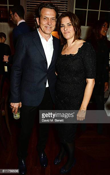Stephen Webster and Tracey Emin attend the launch of their new jewellery collection 'I Promise To Love You' at 34 Grosvenor Square on February 22...