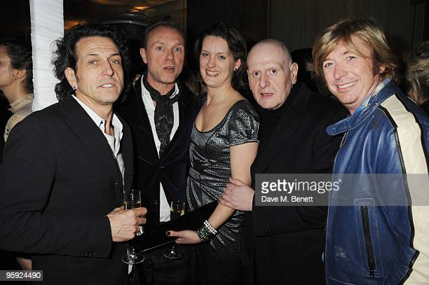 Stephen Webster Gary Kemp Lorraine Goddard Marco Pironi and Nicky Clarke attend the Out Of Context Exhibition after party at the Sanderson Hotel on...