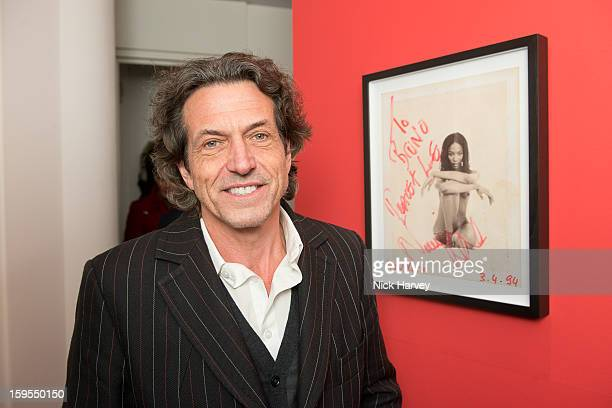 Stephen Webster MBE attends the private view of Bruno Bisang: 30 Years of Polaroids at The Little Black Gallery on January 15, 2013 in London,...