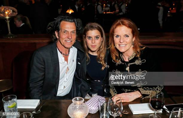 Stephen Webster Princess Beatrice of York and Sarah Ferguson Duchess of York attend the launch of The Ned London on April 26 2017 in London England
