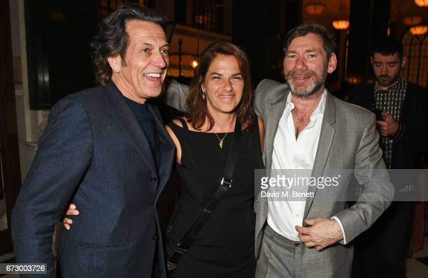 Stephen Webster Tracey Emin and Mat Collishaw attend a preopening dinner hosted by Kate Bryan at Zobler's Delicatessen at The Ned London on April 25...
