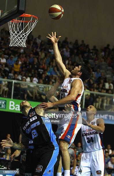 Stephen Weigh of the 36ers lays up the ball during the round 15 NBL match between the New Zealand Breakers and the Adelaide 36ers at North Shore...