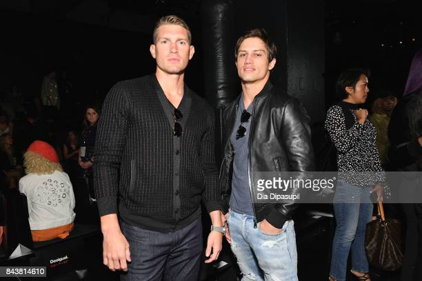Stephen Wonderboy and Bonner Bolton attend Desigual fashion show during New York Fashion Week The Shows at Gallery 1 Skylight Clarkson Sq on...