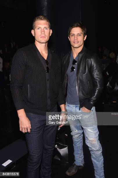 Stephen Wonderboy and Bonner Bolton attend the Desigual fashion show during New York Fashion Week at Gallery 1 Skylight Clarkson Sq on September 7...
