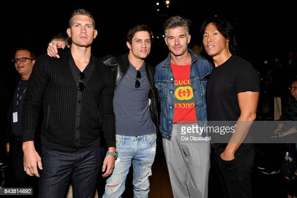 Stephen Wonderboy Bonner Bolton Eric Rutherford and Stephen Gan attends Desigual fashion show during New York Fashion Week The Shows at Gallery 1...