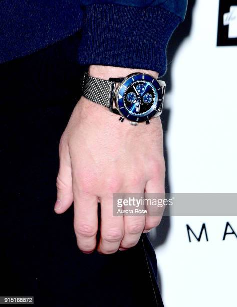 Stephen 'Wonderboy' Thompson watch detail at the Daily Front Row's Celebration of 15 Years of Chic on February 6 2018 in New York City