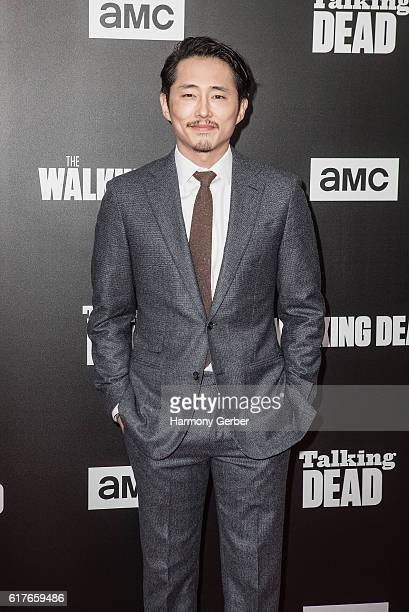 """Stephen Yeun arrives at AMC presents live, 90-minute special edition of """"Talking Dead"""" at Hollywood Forever on October 23, 2016 in Hollywood,..."""