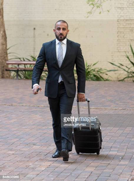 Stephen Zahr legal representitive for Koder Jomaa arrives at Sydney Central Local Court on September 18 2017 in Sydney Australia Michael and Fadi...