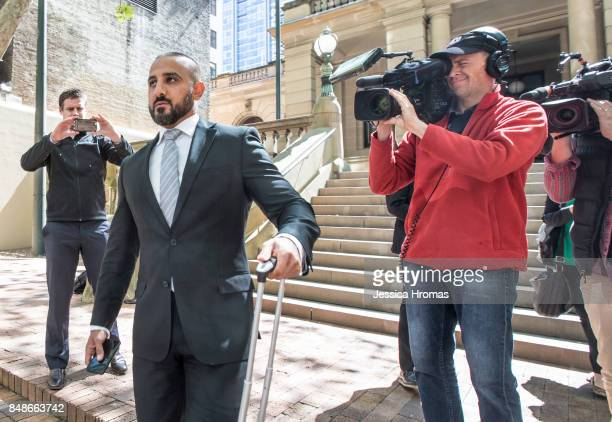 Stephen Zahr legal representitive for Koder Jomaa leaves the Sydney Central Local Court on September 18, 2017 in Sydney, Australia. Michael and Fadi...