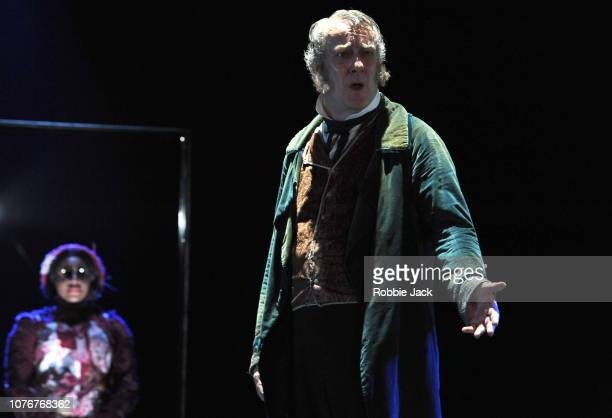 StephenTompkinson as Ebenezer Scrooge in Jack Thorne's adaptation of Charles Dickens A Christmas Carol directed by Matthew Warchus at The Old Vic...