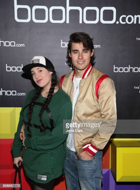Stephie Caire and Jorge Blanco attend the launch of the boohoocom spring collection and the Zendaya Edit at The Highlight Room at the Dream Hollywood...