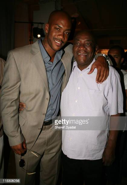 Stephon Marbury and Father during Stephon Marbury InStore Appearance For His Starbury Clothing Line VIP Room at Steve and Barry in New York City New...