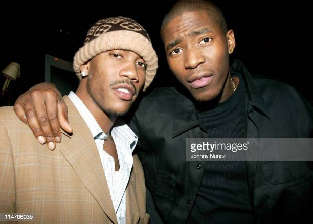 Stephon Marbury and Jamal Crawford during Jamal Crawford's 25th Birthday Party at 58 in New York City New York United States