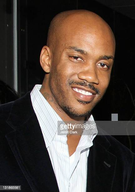 Stephon Marbury attends a Hennessey Black party to celebrate DJ DNice signing to Roc Nation DJ's at The Cooper Square Hotel on November 16 2010 in...
