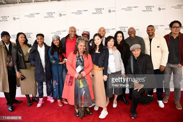 """Stephon Marbury, Coodie Simmons, Chike Ozah, Jason Samuels, Nina Yang Bongiovi and film crew attend the """"A Kid From Coney Island"""" screening during..."""