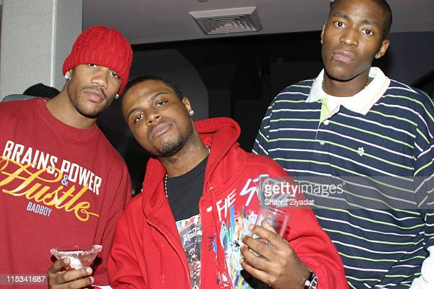 Stephon Marbury Jae Millz and Jamal Crawford during Baby Birdman Lugz Shoe Party at BED at BED in New York City New York United States