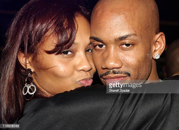 Stephon Marbury of the New York Knicks and wife