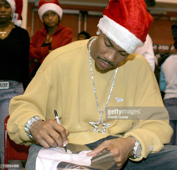 Stephon Marbury of The New York Knicks during Ja Rule and Stephon Marbury Gift Giving December 23 2004 at York College Queens in New York City New...