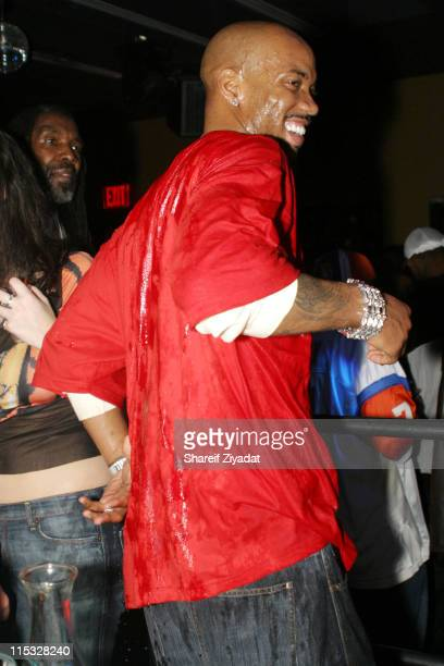 Stephon Marbury of the New York Knicks during New York Knicks Stephon Marbury's Birthday Party at Boulavard in New York City New York United States