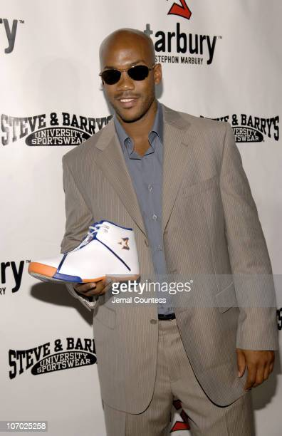 Stephon Marbury with the Starbury One Basketball Sneaker