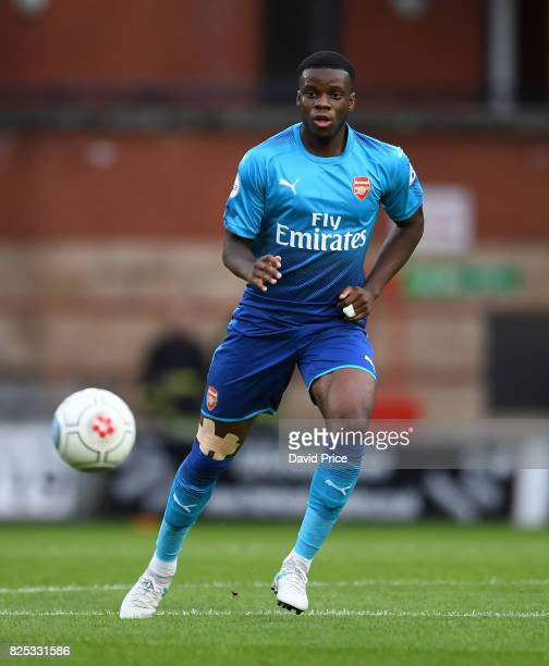 Stephy Mavididi of Arsenal during the match between Leyton Orient and Arsenal U23 at Brisbane Road on August 1 2017 in London England