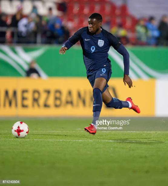 Stephy Mavididi of England plays the ball during the Under 20 International Friendly match between U20 of Germany and U20 of England at Stadion...