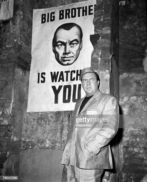 Stepney London England American actor Edmund O'Brien is pictured in a scene from the film '1984' based on the book by George Orwell