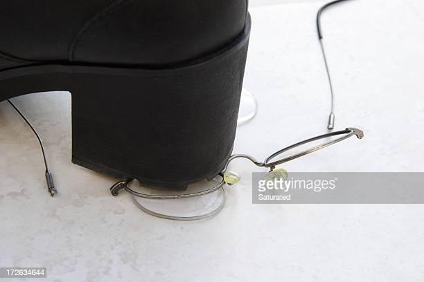 Schlug auf Eyeglasses