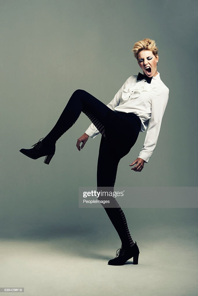 Stepping out in her own style : Stock Photo