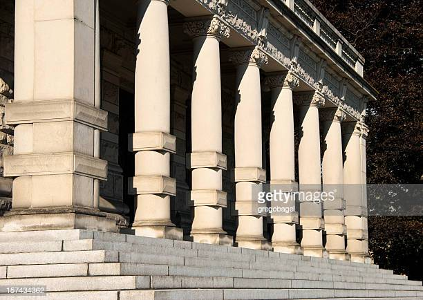 Steps and columns at governmental building