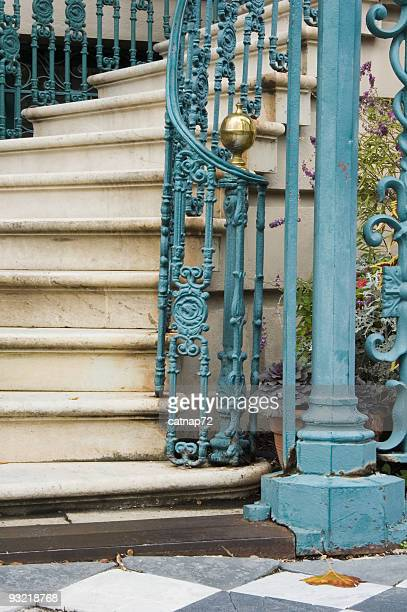 Steps and Staircase Detail, Fancy Old Iron